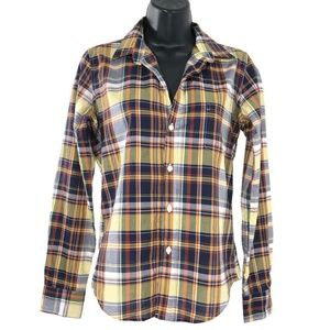 Frank & Eileen Barry Shirt Plaid Multicolored XS